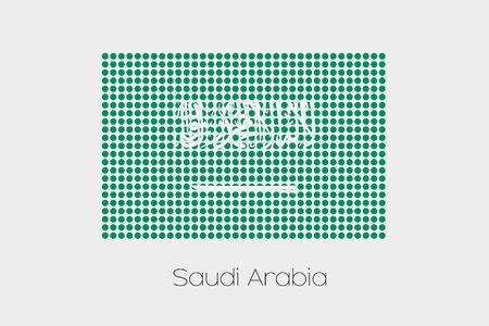 arabia: A Flag Illustration of Saudi Arabia Stock Photo