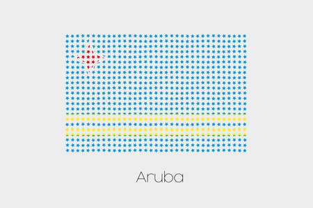 aruba: A Flag Illustration of Aruba Stock Photo