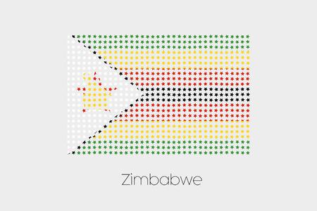 zimbabwe: A Flag Illustration of Zimbabwe