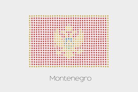 montenegro: A Flag Illustration of Montenegro