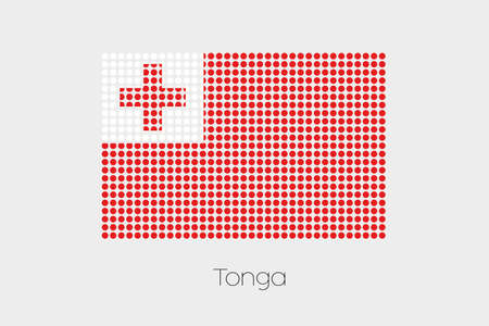 tonga: A Flag Illustration of Tonga