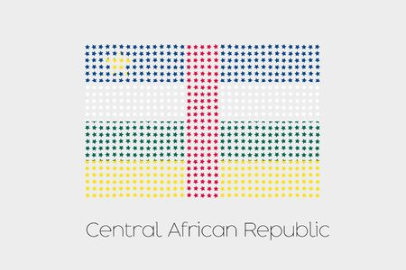 central african republic: A Flag Illustration of Central African Republic