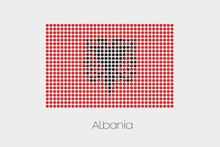 albania: A Flag Illustration of Albania Stock Photo