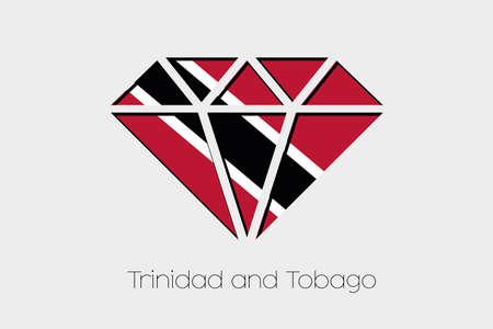 tobago: A Flag Illustration inside a Diamond of Trinidad and Tobago