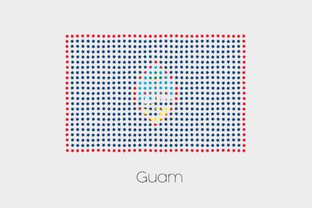 guam: A Flag Illustration of Guam