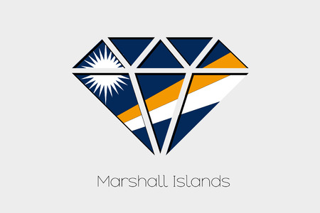 marshall: A Flag Illustration inside a Diamond of Marshall Islands