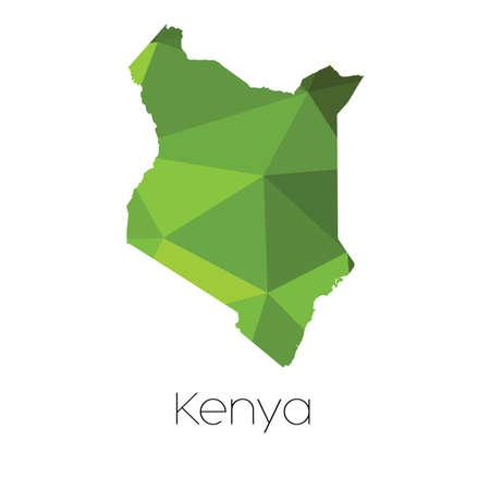 kenya: A Map of the country of Kenya Kenya
