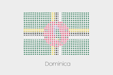 dominica: A Flag Illustration of Dominica Stock Photo