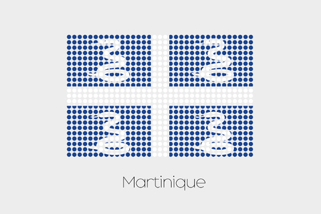 martinique: A Flag Illustration of Martinique Stock Photo