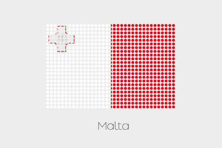 malta: A Flag Illustration of Malta