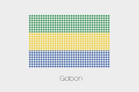 gabon: A Flag Illustration of Gabon