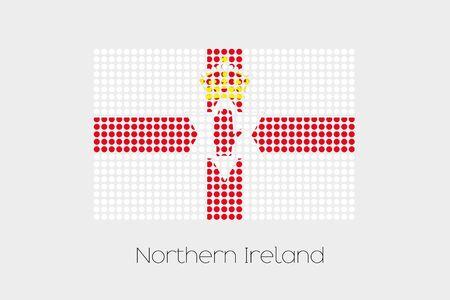 northern ireland: A Flag Illustration of Northern Ireland