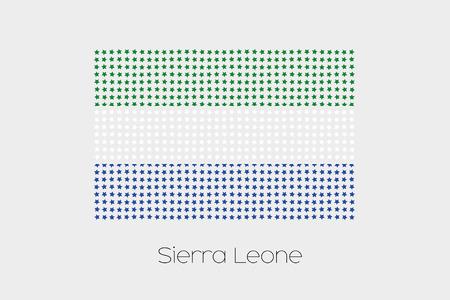 sierra: A Flag Illustration of Sierra Leone
