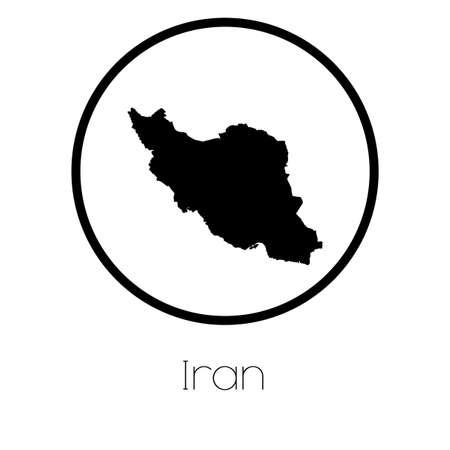 iran: A Map of the country of Iran Stock Photo