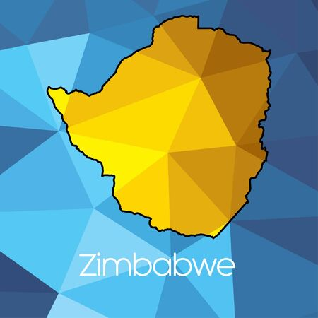 zimbabwe: Un mapa del pa�s de Zimbabwe