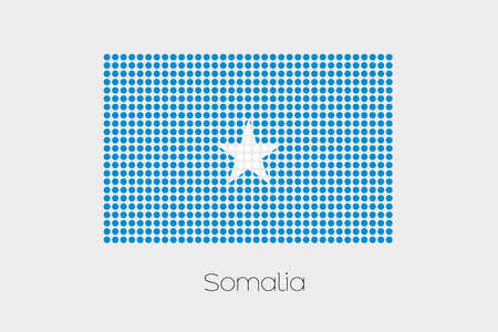 somalia: A Flag Illustration of Somalia
