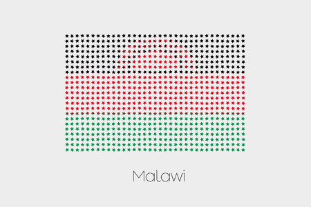 malawi: A Flag Illustration of Malawi