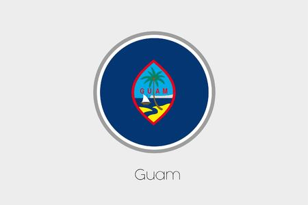 guam: A Flag Illustration of the country of Guam