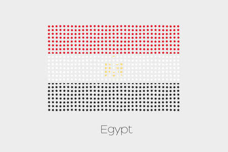 flag of egypt: A Flag Illustration of Egypt