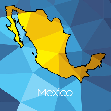 a map of the country of mexico photo