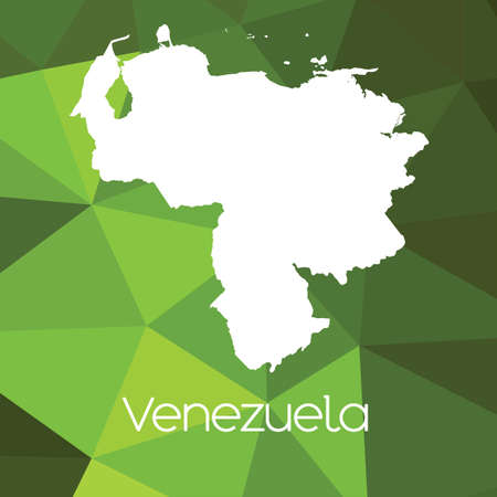 venezuela: A Map of the country of Venezuela Stock Photo