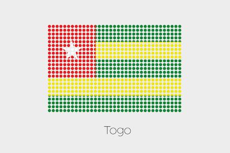 togo: A Flag Illustration of Togo