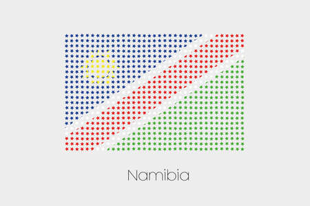 namibia: A Flag Illustration of Namibia Stock Photo
