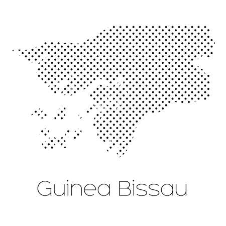 bissau: A Map of the country of Guinea Bissau
