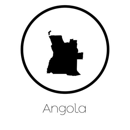 map of angola: A Map of the country of Angola Stock Photo