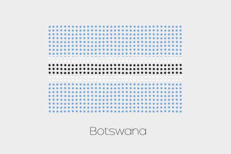 botswana: A Flag Illustration of Botswana Stock Photo