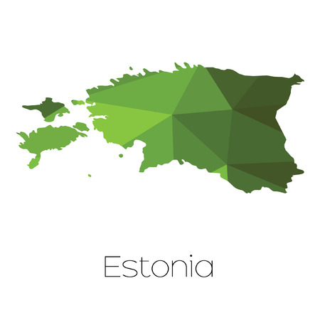 Estonia Map Outline Cliparts Stock Vector And Royalty Free - Estonia from the us map