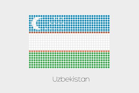 uzbekistan: A Flag Illustration of Uzbekistan Stock Photo
