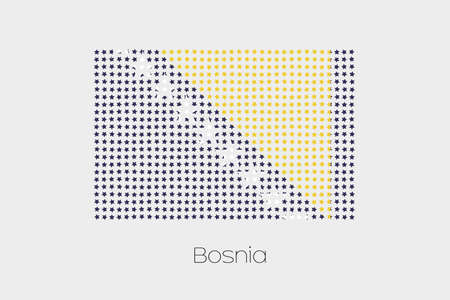 bosnia: A Flag Illustration of Bosnia
