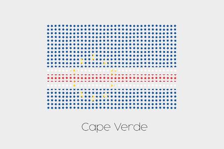verde: A Flag Illustration of Cape Verde Stock Photo