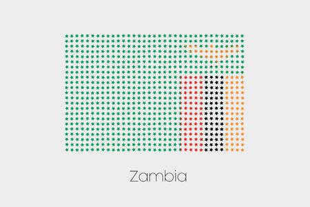 zambia: A Flag Illustration of Zambia Stock Photo