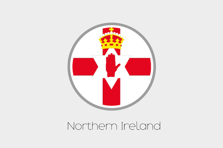 ireland flag: A Flag Illustration of the country of Northern Ireland