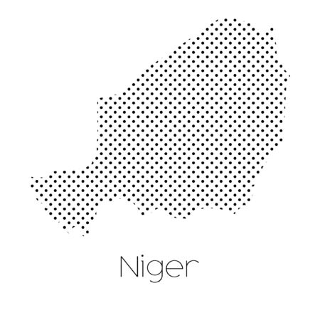 niger: A Map of the country of Niger