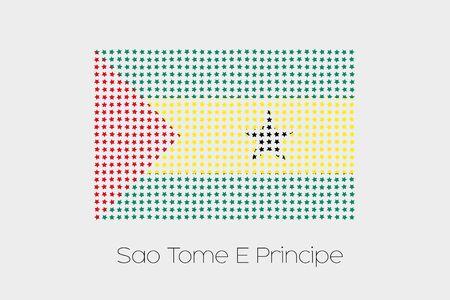 principe: Una bandera Ilustraci�n de Santo Tom� y Pr�ncipe
