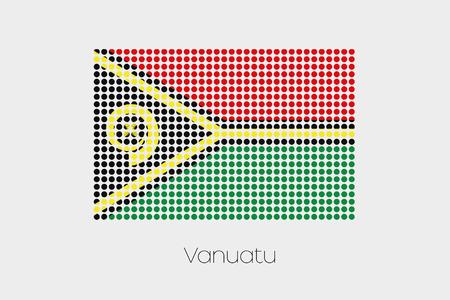 vanuatu: A Flag Illustration of Vanuatu