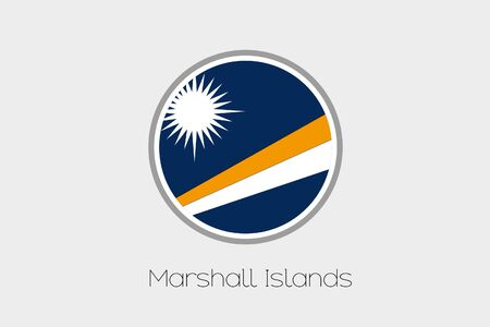 marshall: A Flag Illustration of the country of Marshall Islands Stock Photo