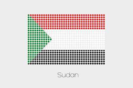 sudan: A Flag Illustration of Sudan