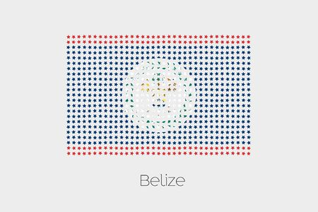 belize: A Flag Illustration of Belize Stock Photo