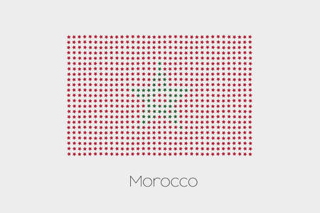 morocco: A Flag Illustration of Morocco Stock Photo
