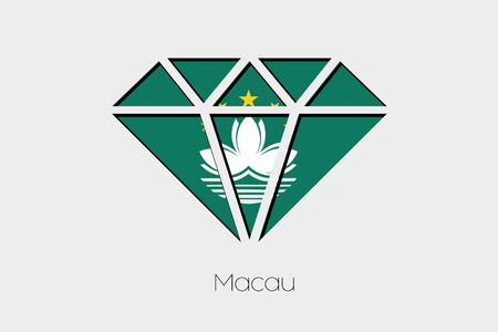macau: A Flag Illustration inside a Diamond of Macau