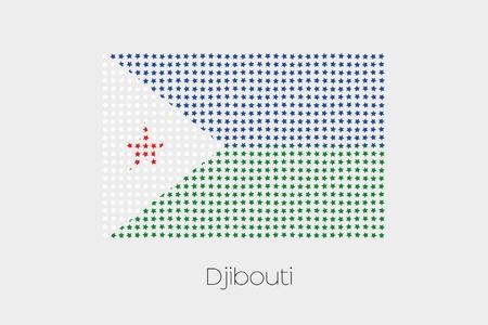 djibouti: A Flag Illustration of Djibouti