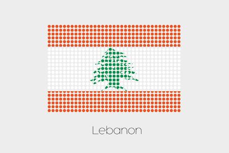 lebanon: A Flag Illustration of Lebanon Stock Photo