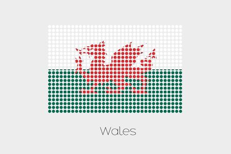 wales: A Flag Illustration of Wales