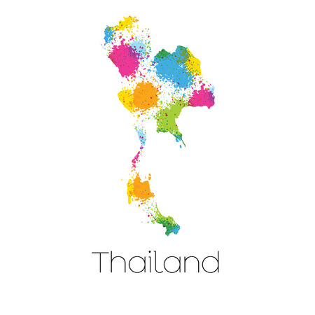 thailand symbol: A Map of the country of Thailand