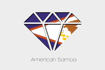 american history: A Flag Illustration inside a Diamond of American Samoa