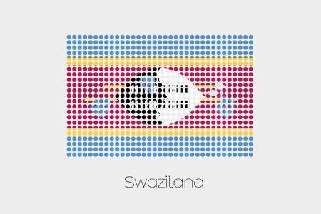 swaziland: A Flag Illustration of Swaziland